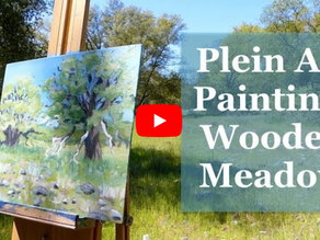 Wooded Meadow Plein Air Painting