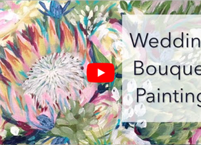Wedding Bouquet Painting