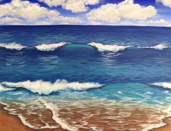 """Beach Waves, 11 x 14"""""""