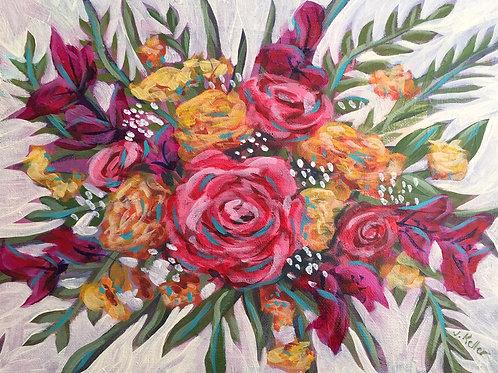 "Lola, Acrylic on Canvas Panel, 11x14"""