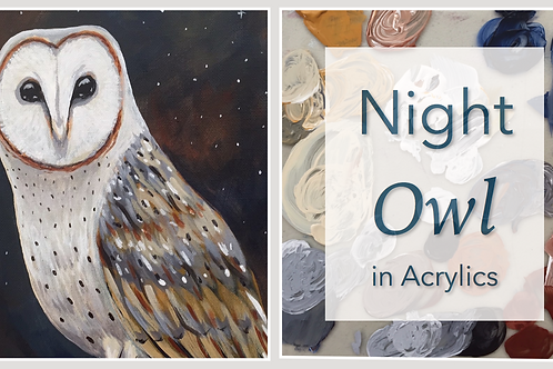 Night Owl in Acrylic Paint: Online Class