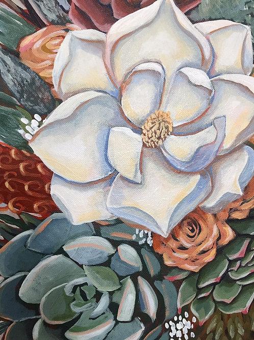 Custom Bouquet Paintings - Wedding, Anniversary, Birthday