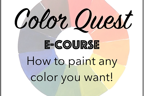 Color Quest E-Course: How to Mix Any Color You Want!