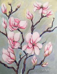 "Magnolia Branch, 11x14"""