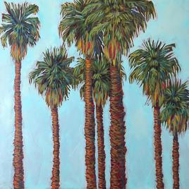 """California Palms 30 x 30"""""""