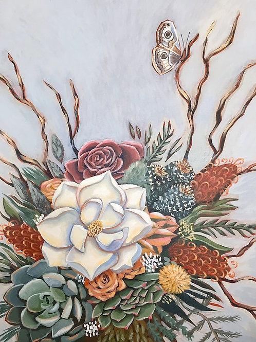 "Open Mind, Open Heart, Acrylic on Canvas, 18 x 24"""