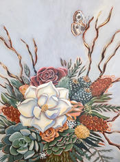 "Magnolia Bouquet,  18 x 14"""