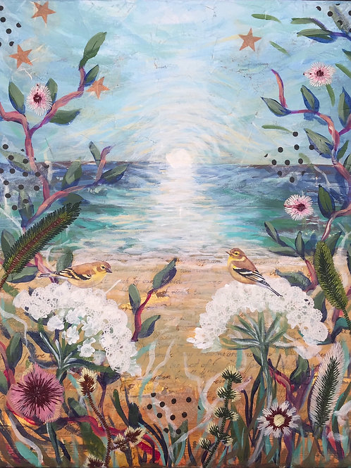 "Amor Fati, Mixed Media on Canvas Panel, 11x14"""
