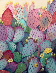"Prickly Pear, 11 x 14"""