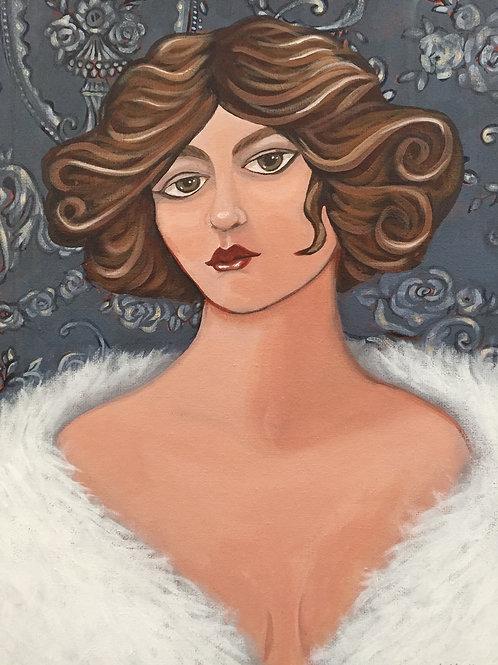 "Respect, Acrylic on Canvas Panel, 11x14"""