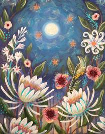 "Night Blooms,  11 x 14"""