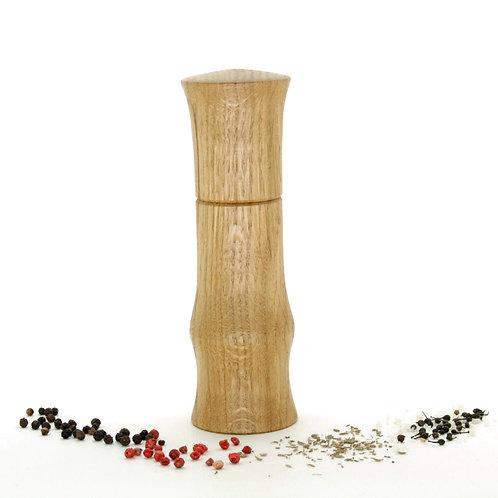 Moulin Brondel à poivre, à sel et à épices, poivrier artisanal en chêne.