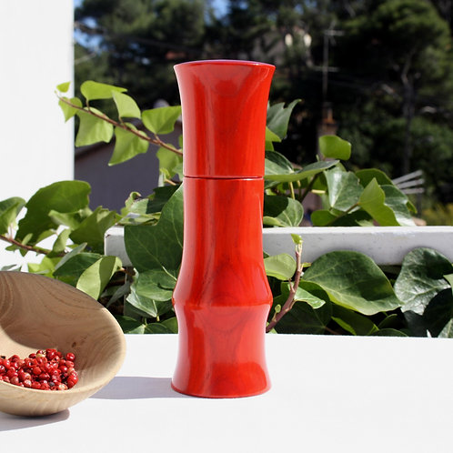 Moulin brondel à poivre, à sel et à épices, poivrier artisanal rouge