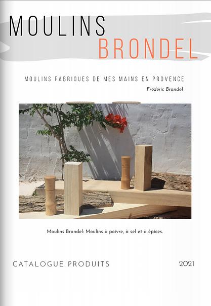 Moulin Brondel à poivre, à sel, à épices artisanal, poivrier artisanal en bois