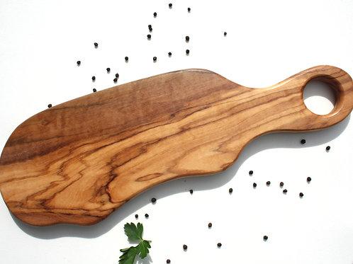 Planche à découper en olivier. réf. c (32 à 37 cm de longueur)