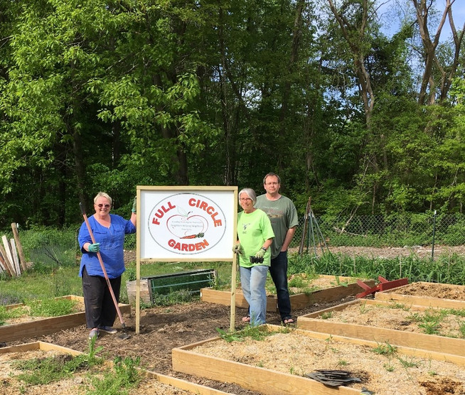The Full Circle Garden is in full swing - check out our new sign.