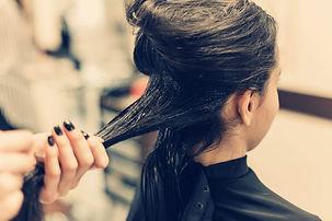 Hair Care Female Having Hair Treated in