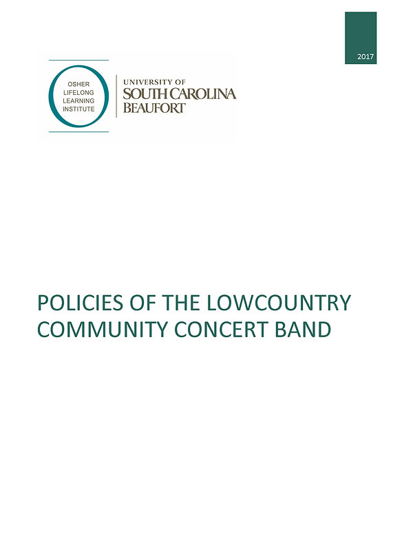 Policies of the Lowcountry Community Con