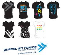Création motifs pour t-shirts Québec en forme
