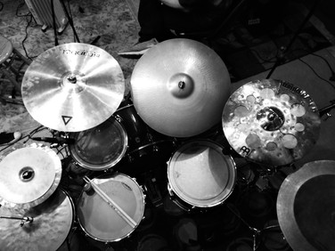 House drums and cymbals