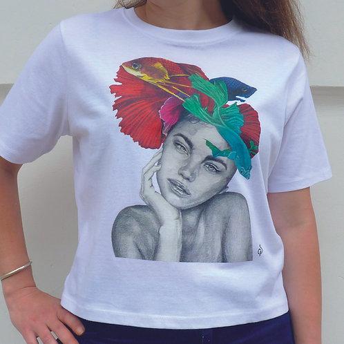 T shirt- Femme Poissons- L