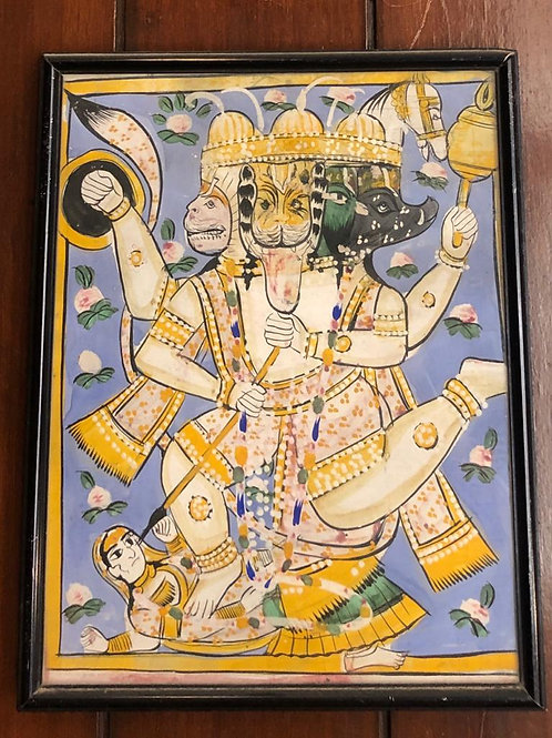 100 year old Panchmukhi Hanuman Painting