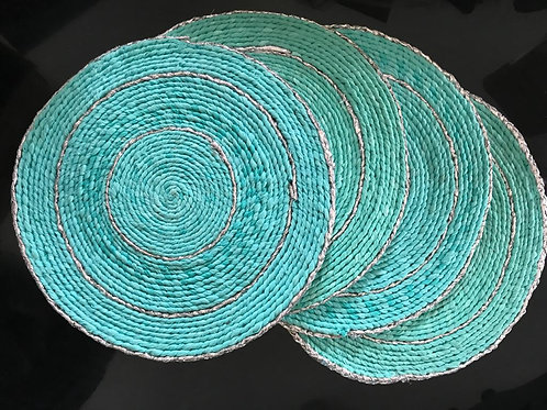 Blue Table Placemats Set of 4