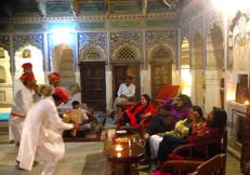 Folk dancers at the Vedaaranya Haveli m