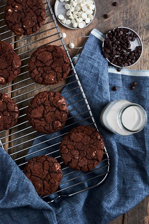 Gluten-free Reverse Chocolate Chip Cookies