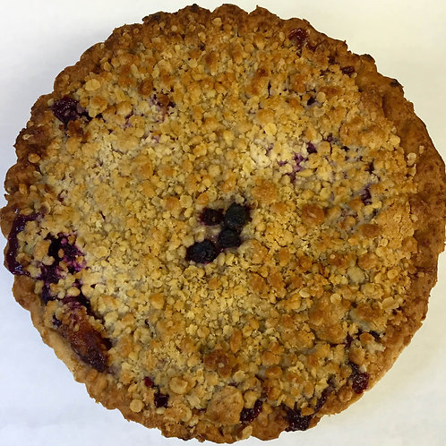 Apple Blueberry Crumb Tart