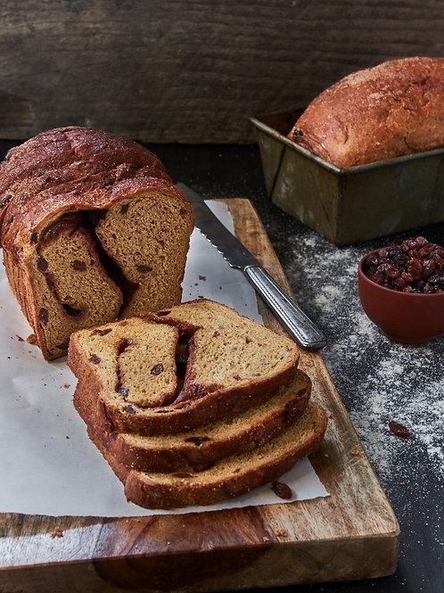 Raisin Cinnamon Wheat Bread
