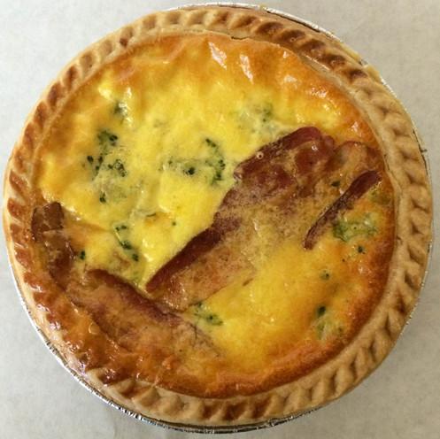 Gluten-free Broccoli, Bacon & Cheddar Quiche