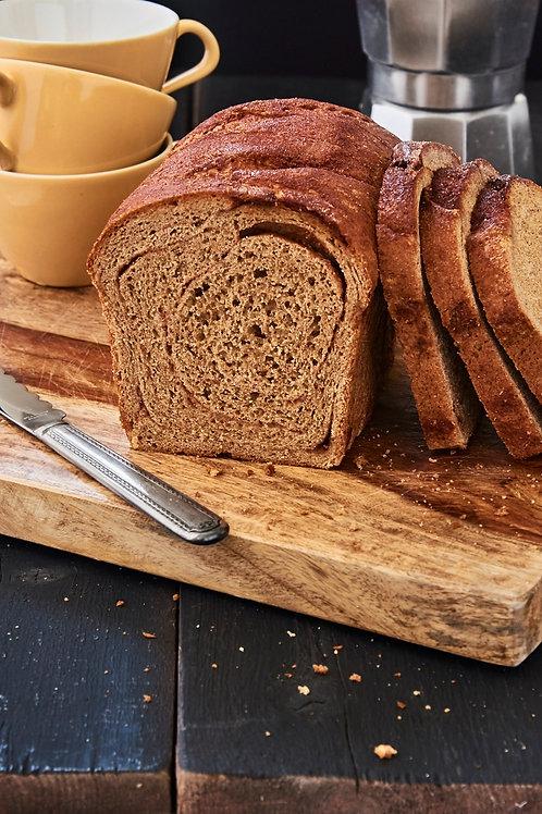 Spelt Cinnamon Swirl Bread
