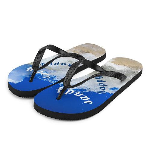Flip-Flops - sandy salty happy