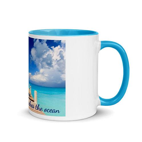 "Colored Mug ""meet me where the sky touches the ocean"""