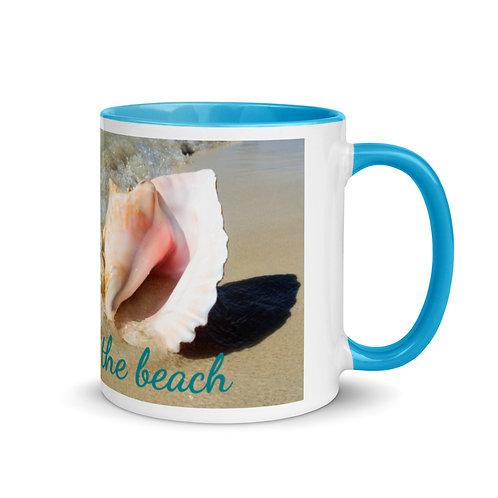 """Colored Mug """"sea you at the beach"""""""