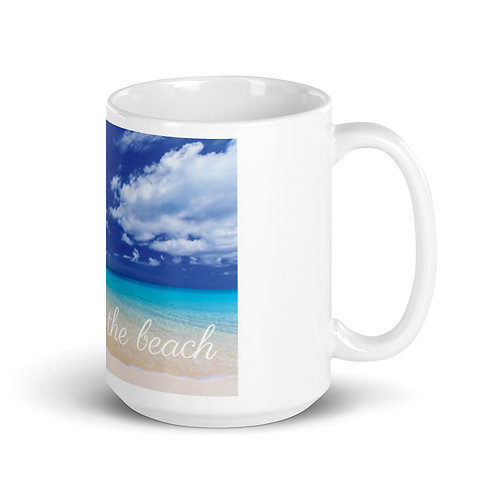 "White Mug ""sea you at the beach"""