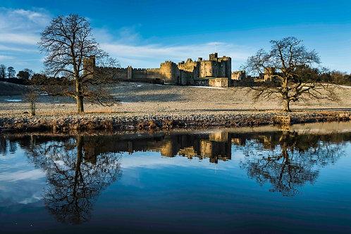Alnwick Castle Mounted Small Fine Art Print