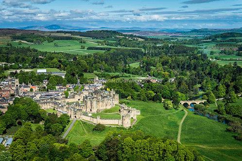 Alnwick Castle Mounted Medium Fine Art Print