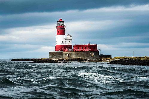 Longstone Lighthouse Mounted Medium Fine Art Print