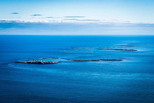 Farne Islands Medium Aluminium Print