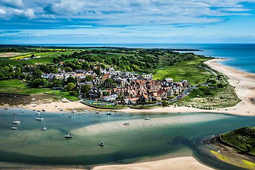 Alnmouth Mounted Small Fine Art Print