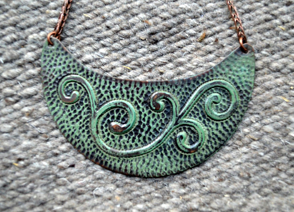 Copper Crescent Moon Necklace