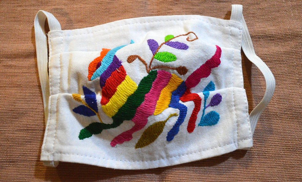 Hand Embroidered Otomi Face Mask