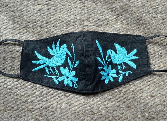 Black & Turquoise Otomi Masks