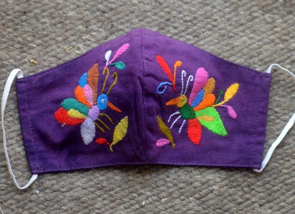 Purple & Rainbow Otomi Face Masks