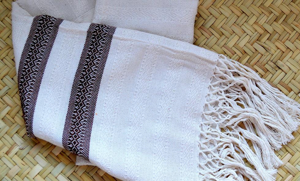 Treadle Loom Cotton Rebozo