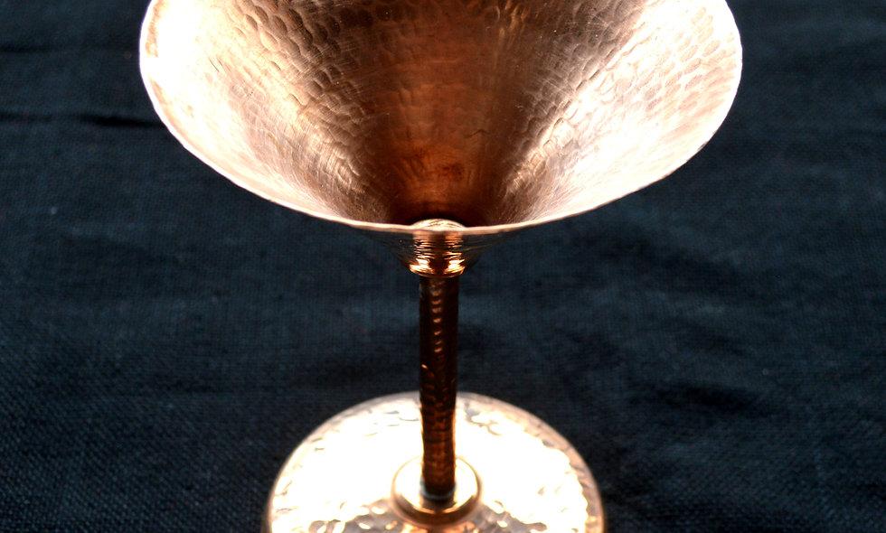 Copper Martini Goblet by Sergio Velasquez