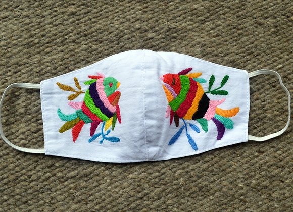 White Otomi Fish Face Masks