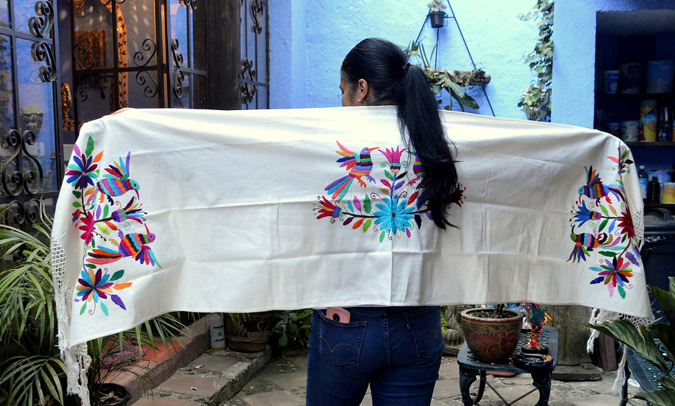 Hand Embroidered Otomi Rebozo